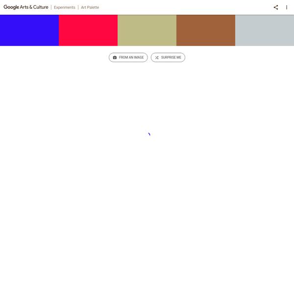 Google Art & Culture Experiment - Art Palette