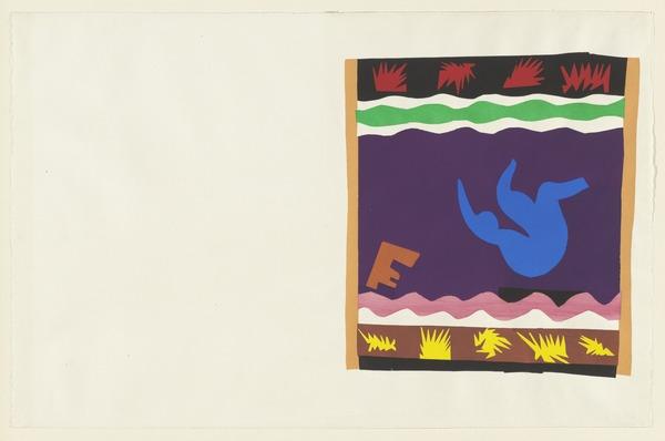 Henri Matisse, Toboggan (Le tobogan) from Jazz, 1947