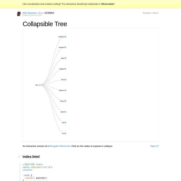 Collapsible Tree