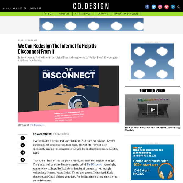 We Can Redesign The Internet To Help Us Disconnect From It