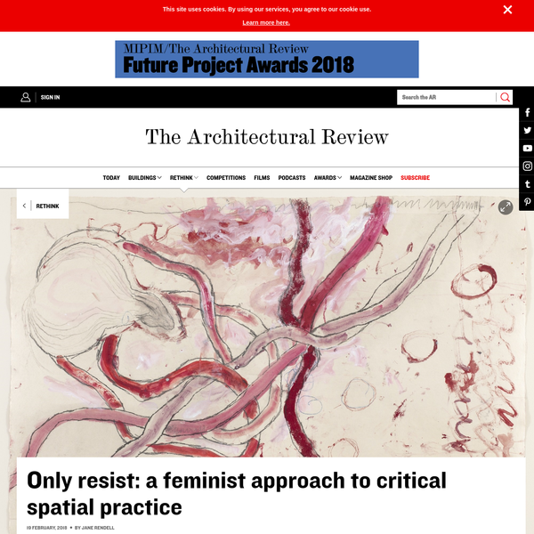 In the 1990s, the drawn and written projects of the American architect and critic, Jennifer Bloomer, aimed to reveal the insufficiency of logical and rational structures such as spoken language to explain the world, and instead brought into operation the irrational and subversive elements in written texts - the feminine.