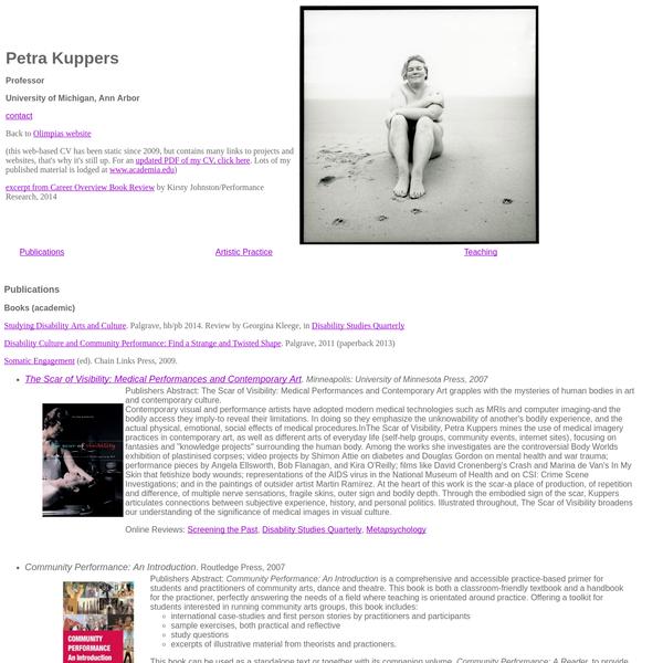 Petra Kuppers CV