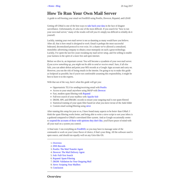 How To Run Your Own Mail Server
