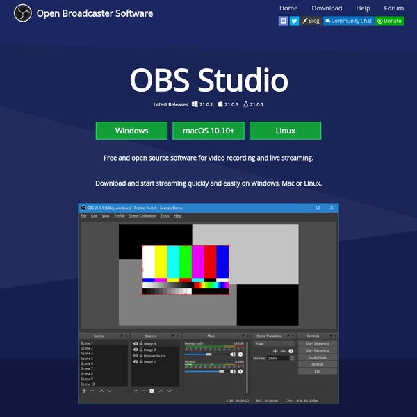 Open Broadcaster Software | screen capture