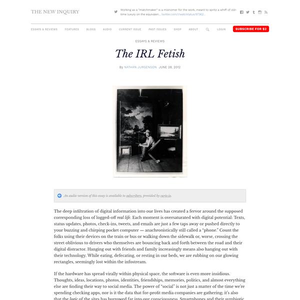 The IRL Fetish