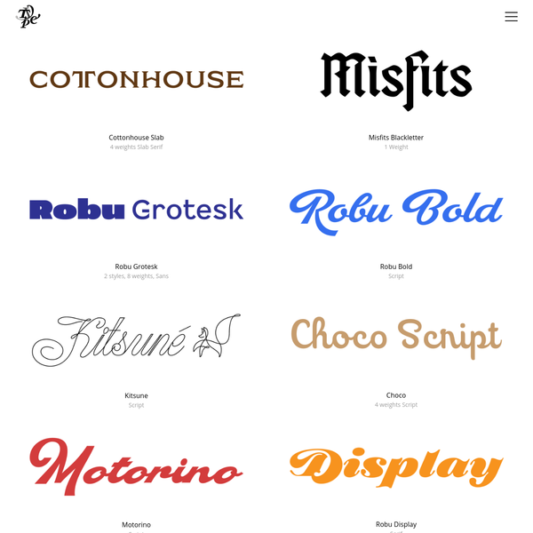 Typeverything - great fonts from independent foundries