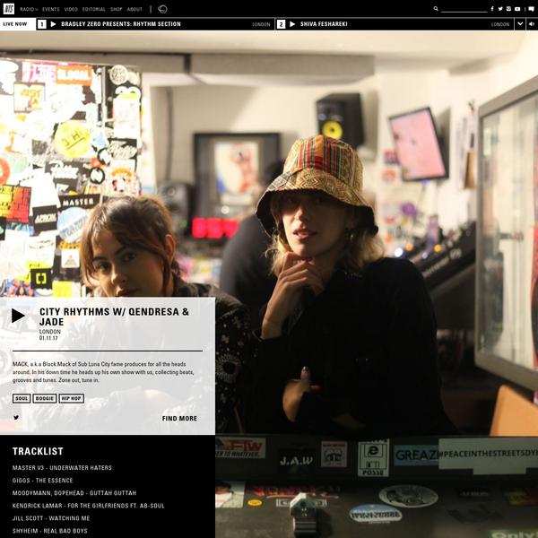 City Rhythms w/ Qendresa & Jade 01.11.17