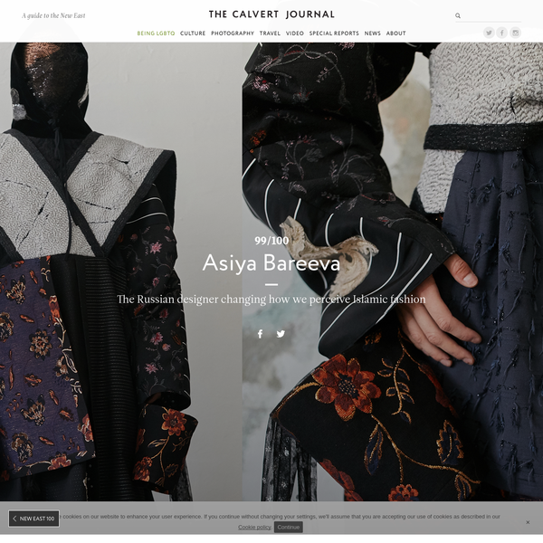 Moscow-based womenswear designer Asiya Bareeva's practice draws on the multiculturalism of modern Russia. With her AW16 collection - consisting of ankle-length multi-layered garments, rich fabrics and intricate ornamentation - the designer revealed a delicate side to Islamic dress.
