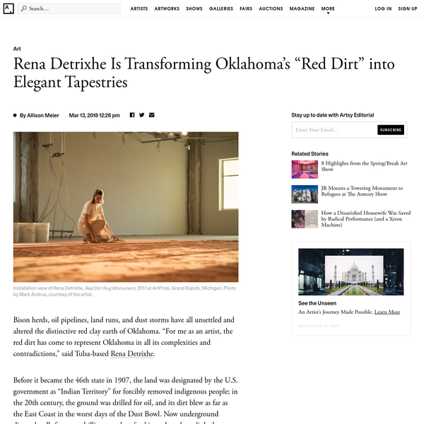 """The Artist Transforming Oklahoma's """"Red Dirt"""" into Elegant Tapestries"""