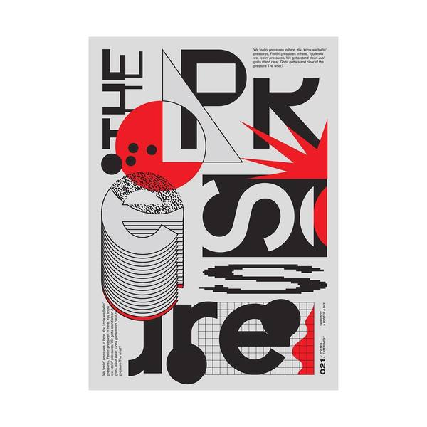 "211 Likes, 6 Comments - Shiny Boy (@shinyboyfeed) on Instagram: ""021 〰️ Poster A Day Series - The Pressure . . . . . #poster #type #graphicdesign #logo #logodesign..."""