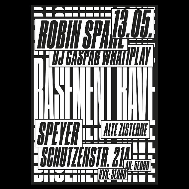 """459 Likes, 5 Comments - Tim Lindacher (@timlindacher) on Instagram: """"⚠️ #throwbacksunday Rejected Poster for Basement Rave 🙅♂️ #graphicdesign #techno #poster #affiche"""""""