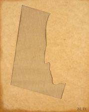 Jasper Johns - M. D. (Marcel DUCHAMP)