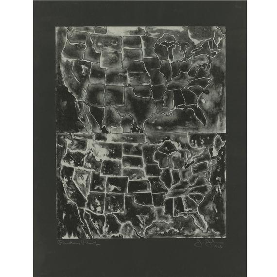 Jasper Johns - Two Maps II (ULAE 26)