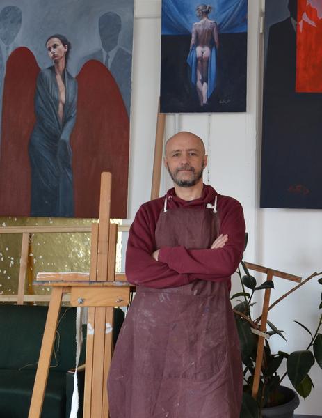 Doru Nuta in his Studio