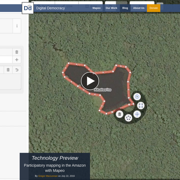 Mapeo is an easy-to-use offline mapping app built for our work with indigenous communities in the Amazon and around the world, who asked us for an easier way to create and edit their own maps.