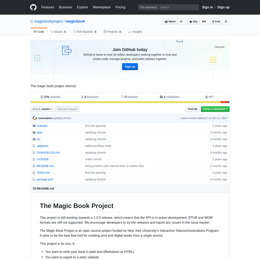 magicbook - The magic book project returns!