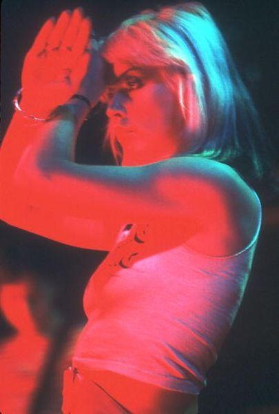 Debbie Harry performing with Blondie in...