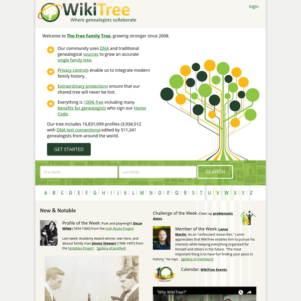 A community of genealogists connecting the human family on one FREE and accurate tree using traditional genealogy and DNA testing.
