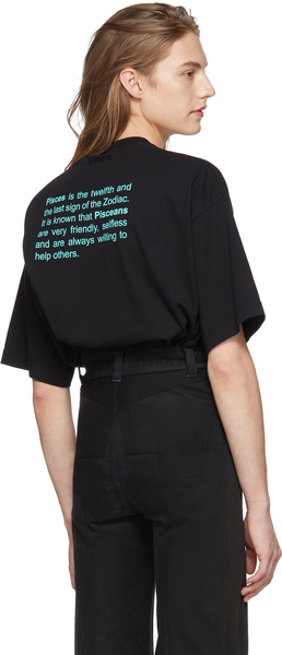 Vetements Black Pisces Horoscope T-Shirt