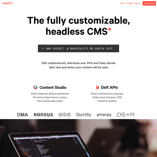 Sanity - The fully customizable, headless CMS