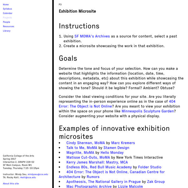 Design for the Net | Exhibition Microsite