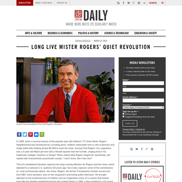 Grand Communications/The Fred Rogers Company In 1969, when a second season of the popular year-old children's TV show Mister Rogers' Neighborhood was threatened by a funding pinch, children nationwide sent in rolls of pennies and single dollar bills totaling almost $4,000 to save the show.