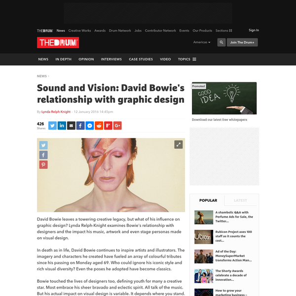 Sound and Vision: David Bowie's relationship with graphic design