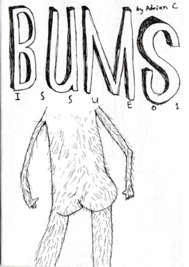 illustration butt ass erotic hair black white b/w