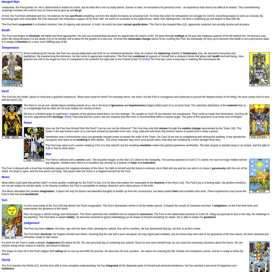 Free Online Course for Learning the Tarot