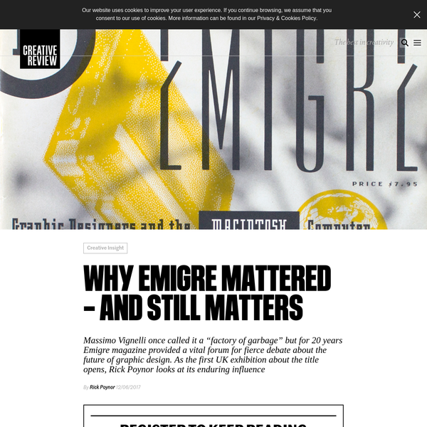 Why Emigre mattered - and still matters - Creative Review