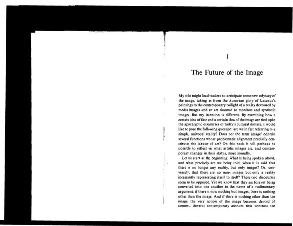 Ranciere Jacques The Future of the Image