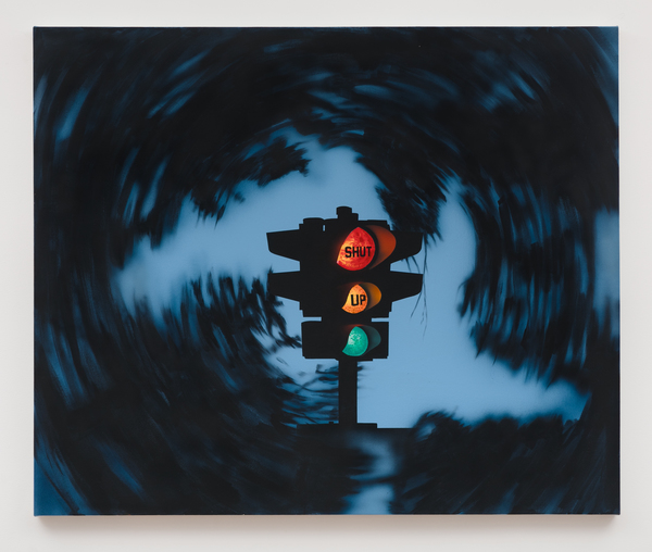 Jamian Juliano-Villani, Shut Up, The Painting, 2018