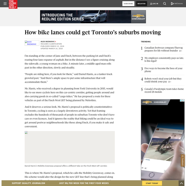 How bike lanes could get Toronto's suburbs moving