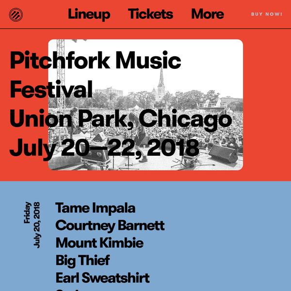 Jul 20 - Jul 22, 2018 @ Union Park, Chicago, IL