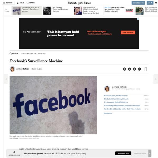 Opinion   Facebook's Surveillance Machine