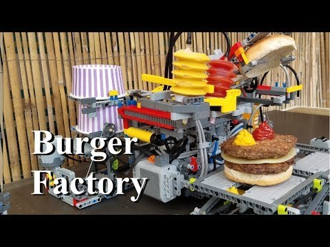 Welcome to the Burger Party! We built working Burger Factory using Lego parts. Bring your friends and let's have fun together. 👍Thanks for watching ❤️Like, Comment, Share and Subscribe. Built using Lego parts. This is my MOC.