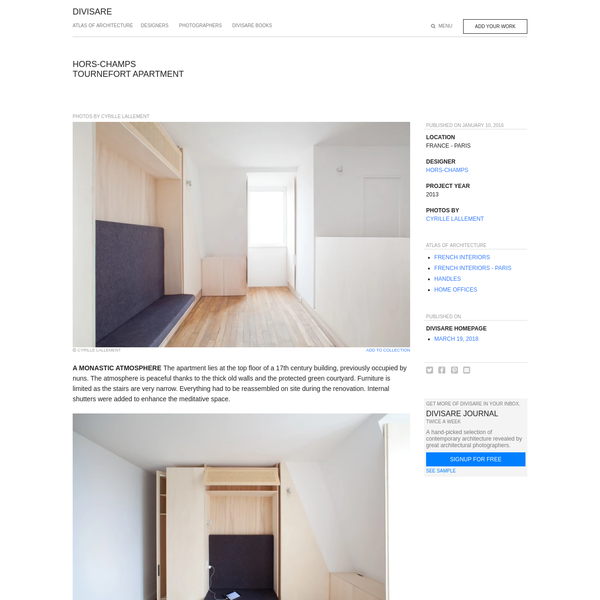 Hors-Champs, Cyrille Lallement · Tournefort Apartment
