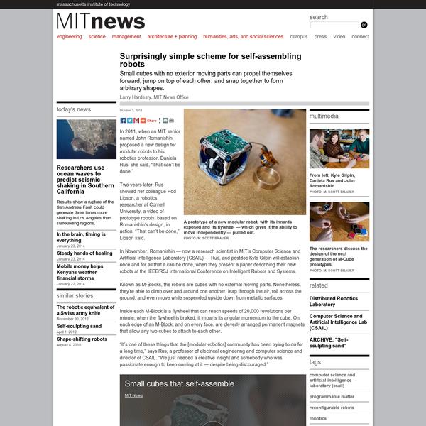 Surprisingly simple scheme for self-assembling robots