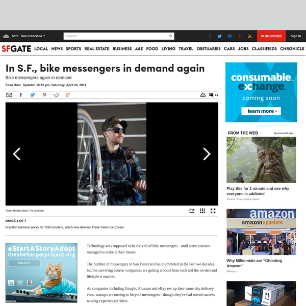 The number of messengers in San Francisco has plummeted in the last two decades, but the surviving courier companies are getting a boost from tech and the on-demand lifestyle it enables. Armed with logistics apps and startup partnerships, some are adapting to a new business environment fueled by a culture of instant gratification.