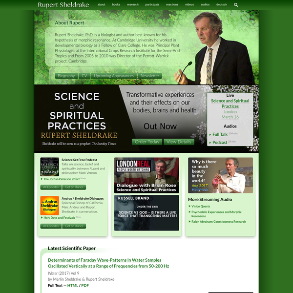 Rupert Sheldrake - Author and Biologist