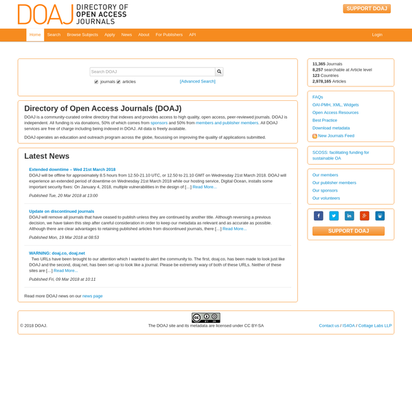 DOAJ is an online directory that indexes and provides access to quality open access, peer-reviewed journals.