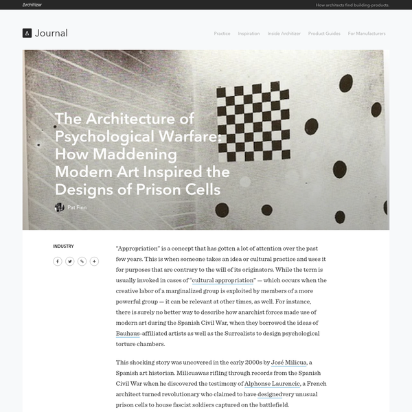 The Architecture of Psychological Warfare: How Maddening Modern Art Inspired the Designs of Prison Cells - Architizer Journal