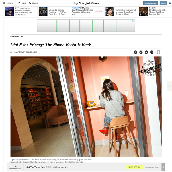 Dial P for Privacy: The Phone Booth Is Back