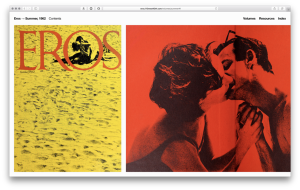 Eros is the lesser-known sister publication of Avant Garde, which help set off the sexual revolution in the 1960s. [eros.110west40th.com](http://eros.110west40th.com/)