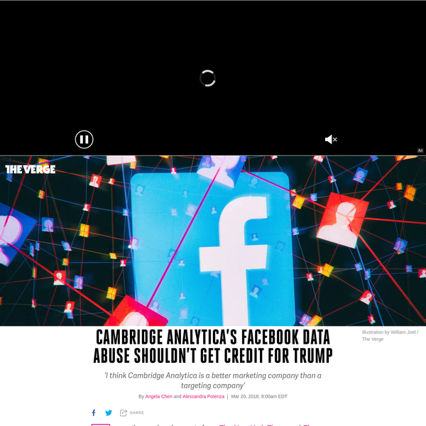 Over the weekend, reports from and The Observer confirmed that voter-profiling company Cambridge Analytica had amassed data on over 50 million Facebook users. This information had been collected legitimately by an academic researcher, Aleksandr Kogan, who passed it on to the profiling firm.