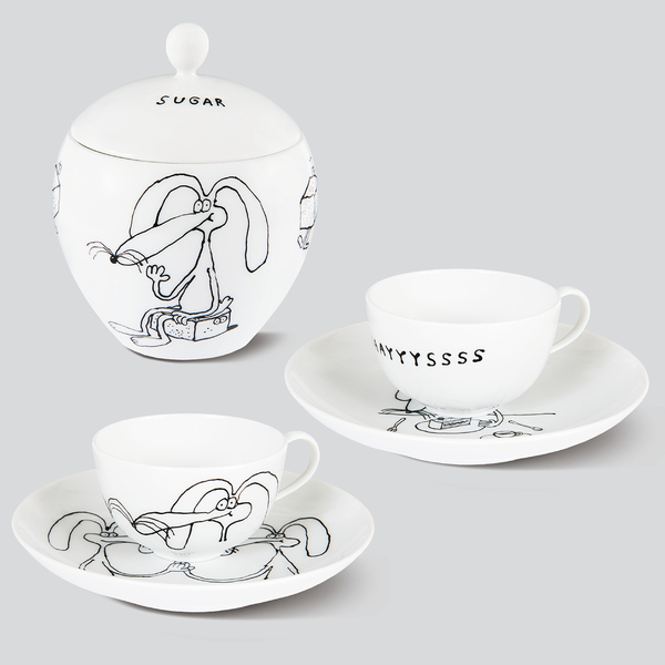 This is the KPM+ Sundaayyyssss set for espresso lovers, it comes with 2 espresso cups & saucers and a sugar bowl - everything handpainted and signed at the bottom, manufactured at KPM in Berlin Tiergarten, highest porcelain quality. ☕️ link in bio - Thank you @kpmberlin #kpmberlin #sundaayyyssss #porcelain