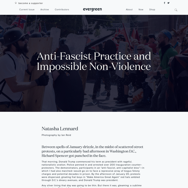 Anti-Fascist Practice and Impossible Non-Violence