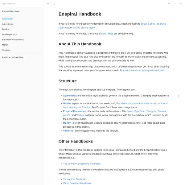 Introduction · Enspiral Handbook