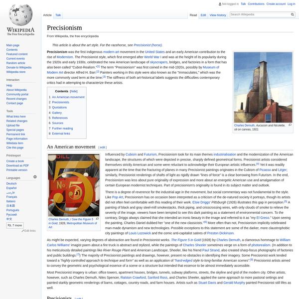 Precisionism - Wikipedia