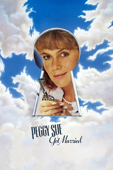 Peggy Sue faints at a Highschool reunion. When she wakes up she finds herself in her own past, just before she finished school.